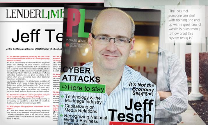 Jeffrey Tesch Featured in AAPL's Private Lending E-Zine