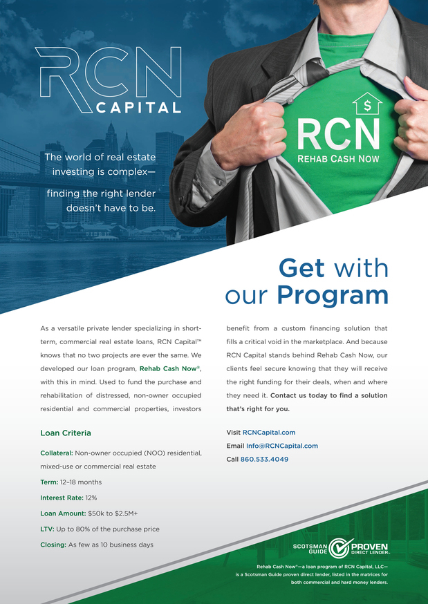 RCN Capital Featured in Scotsman Guide's September Commercial Edition