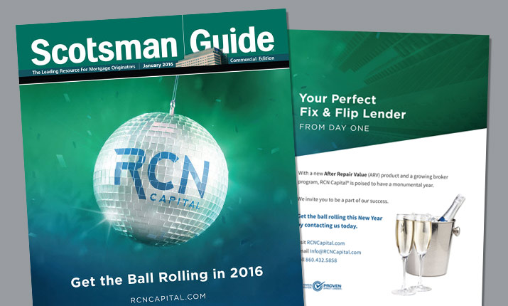 RCN Capital on Cover of 2016 January Scotsman Guide Commercial Edition